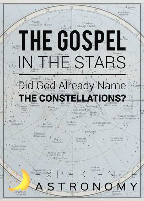 Did God already name the constellations?